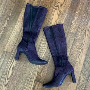 Chinese Laundry Snakeskin Boot Chunky Heels